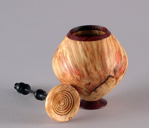Box Elder, Cocobolo with African Blackwood finial