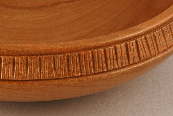 Cherry With Carved Rim Detail